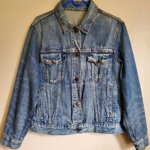 J. CREW Distressed Denim Jacket